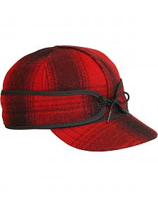 Stormy Kromer Men's Red & Black Plaid Original Cap
