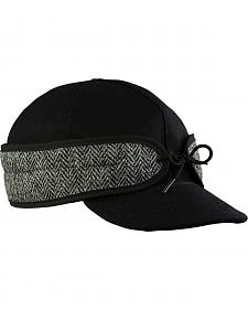 Stormy Kromer Men's Black Herringbone Original Cap