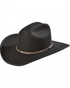 Scala Men's Black Cattleman Crushable Hat