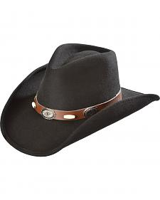 Scala Men's Chocolate Crushable Concho and Bonebead Trimmed Hat