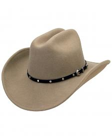 Silverado Men's Crushable Wool Cattleman Crown Hat