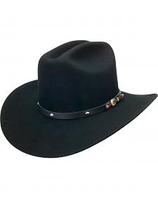 Silverado Men's Wool Felt Black Cowboy Hat
