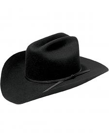 Master Hatters Men's Rodeo Bill 2X Black Wool Cowboy Hat