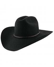 Master Hatters Men's Black Lariat 2X Wool Cowboy hat