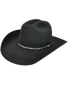 Bailey Men's Black Bridger 3X Wool Felt Cowboy Hat