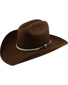 Master Hatters Men's Chocolate Ramrod Felt Hat