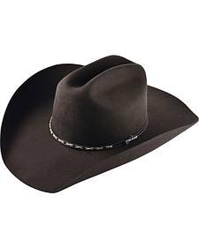 Ram Men's Chocolate Adult Wool Cross-stitch Cowboy Hat