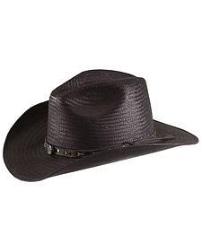 Jack Daniel's black straw cowboy hat