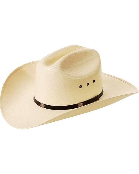 Cattleman Straw Cowboy Hat