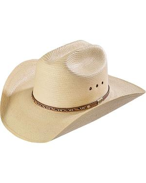 Larry Mahan Cowboy Palm Straw Western Hat