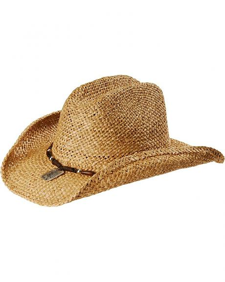 Kenny Chesney Wood Bead Moroca Straw Cowboy Hat