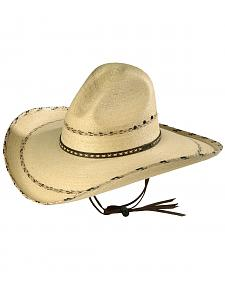 Larry Mahan 30X Pancho Gus Palm Straw Western Hat