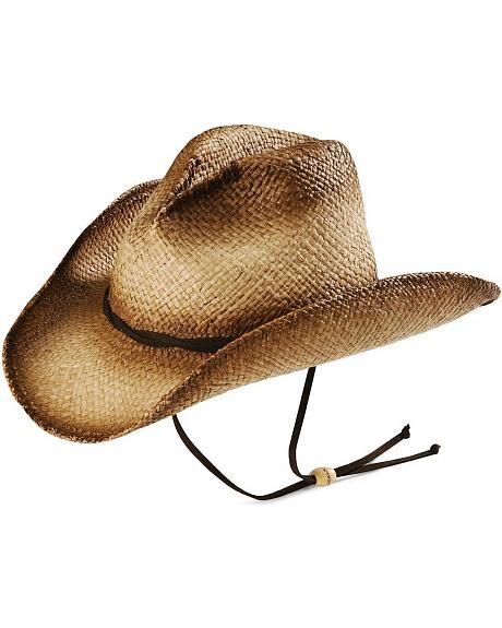 Scala Distressed Straw Cowboy Hat