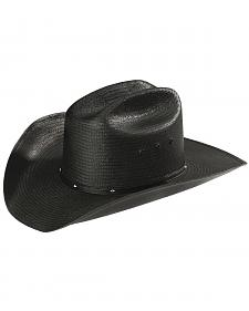 Stetson Stallion Bullock Black Straw Shapeable Cowboy Hat