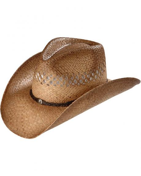 Scala Vented Pinchfront Straw Cowboy Hat