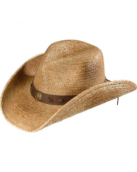 Kenny Chesney Pinchfront Palm Straw Cowboy Hat