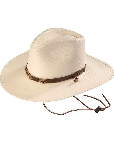 Stetson Duster Pinchfront Straw Cowboy Hat