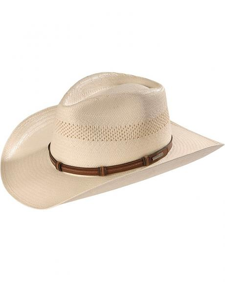 Stetson Key West Vented Pinchfront Straw Cowboy Hat