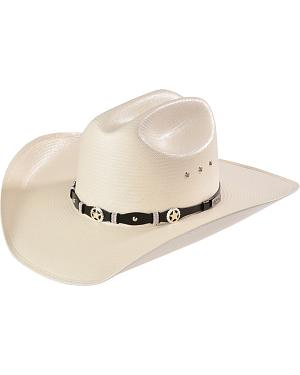 Larry Mahan 10X Oplin Straw Cowboy Hat
