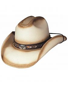 Little Big Horn Natural Shantung Panama Straw Hat