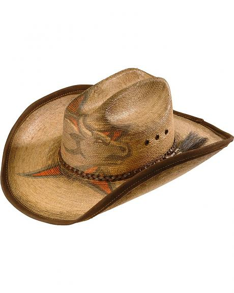 PBR Burnished Bull Straw Cowboy Hat