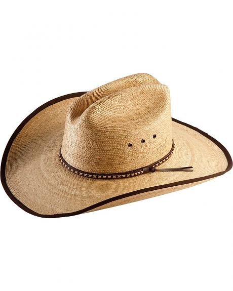 Straw Cowboy Hat Black Hicktown Straw Cowboy Hat