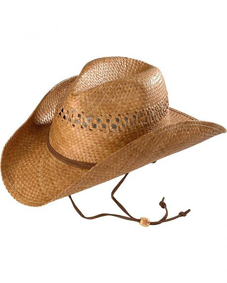 Kenny Chesney Vented Pinchfront Straw Cowboy Hat