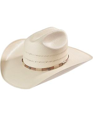 Larry Mahan 10X Wyatt Double Vented Straw Cowboy Hat