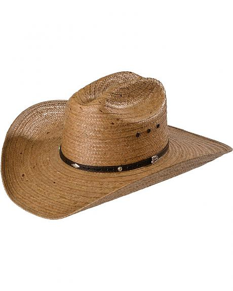 Justin Bent Rail Medera Coconut Palm Straw Cowboy Hat