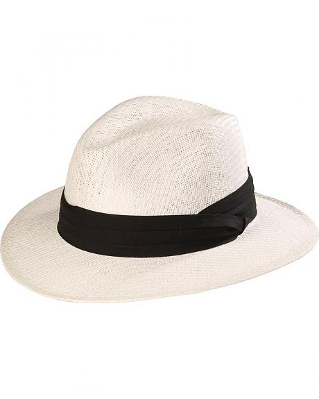 Scala White Safari Straw Hat