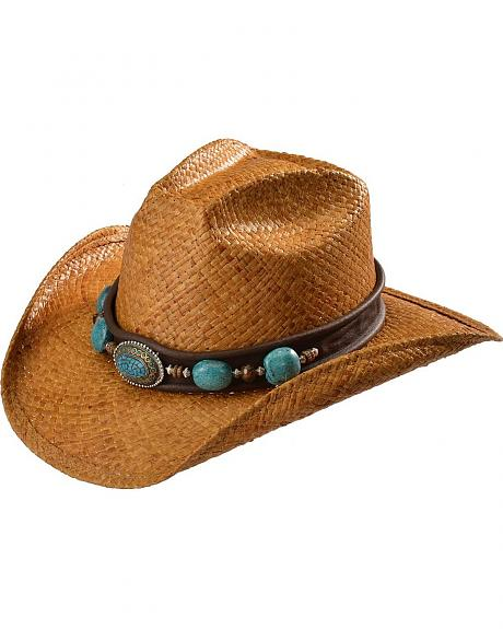 Shady Brady Crushable Straw with Berber Bead Band Cowboy Hat