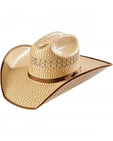 Justin Bent Rail Custer Straw Cowboy Hat