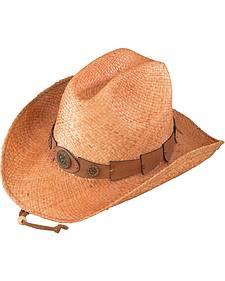 Henschel Raffia Straw Cowboy Hat