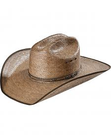 Justin Bent Rail Buck Up Palm Straw Cowboy Hat