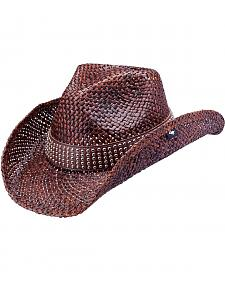 Peter Grimm Hector Studded Band Straw Cowboy Hat