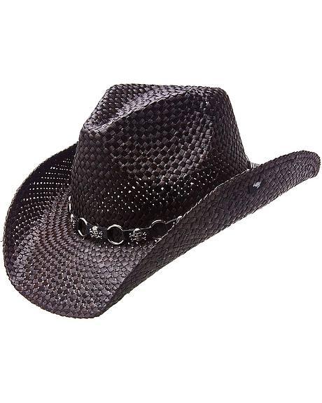 Skull Cowboy Hat Hat Band Straw Cowboy Hat