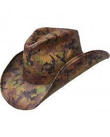 Peter Grimm Scout Camo Print Straw Cowboy Hat