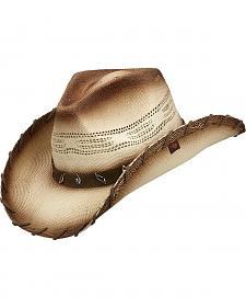 Peter Grimm Saddle Faux Suede Laced Straw Cowboy Hat