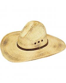 Twister Natural Fire Palm Leaf Straw Sloped Straw Cowboy Hat