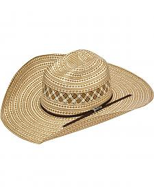 Twister 10X Shantung Check Pattern Straw Cowboy Hat