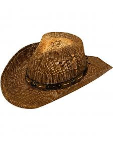 Twister Eagle Design Raffia Straw Cowboy Hat