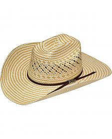 Twister 6X Shantung Check Straw Cowboy Hat