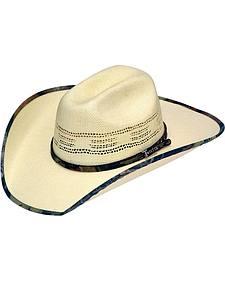 Twister Bangora Mossy Oak Camo Brim Straw Cowboy Hat