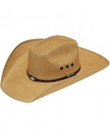 Twister 8X Jute Boxed Cattleman Crease Straw Cowboy Hat