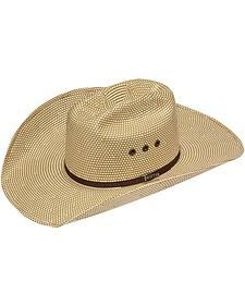 Twister 10X Shantung Americana Check Straw Cowboy Hat