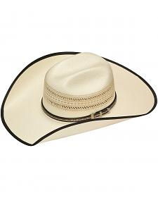 Twister 20X Shantung Bound Edge Buckle Band Straw Cowboy Hat