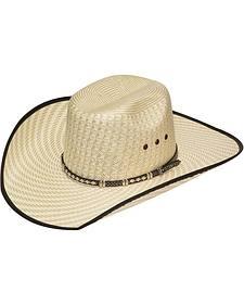 Twister 10X Shantung Straw Diamond Concho Straw Cowboy Hat