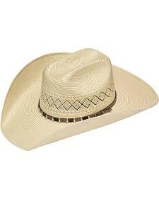 Twister 10X Shantung Stitched Band Straw Hat