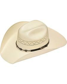 Twister 10X Shantung Star Concho Band Straw Cowboy Hat