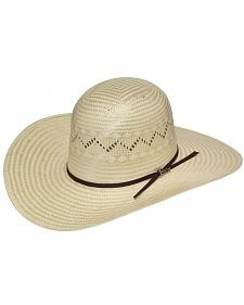 Twister Open Crown Poly Rope Straw Cowboy Hat